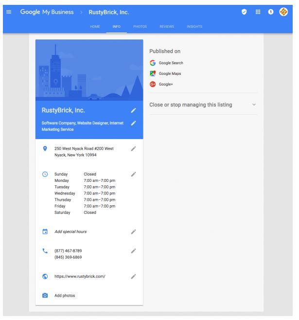 Обновлен интерфейс сервиса «Google Мой бизнес»