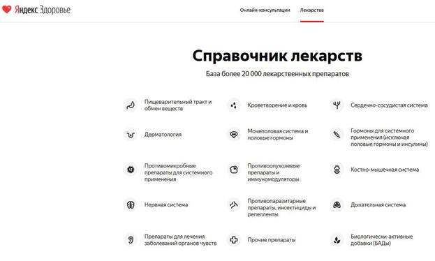 Новые функции на сервисе Яндекс.Здоровье